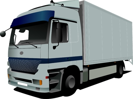Vector illustration of silver  truck Stock Vector - 8474260