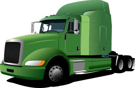 Vektor-Illustration der grünen LKW Vektorgrafik