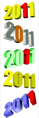 Set of 2011 calendar year icon symbol for use in print, on websites, or in advertising materials. Stock Vector - 8479765