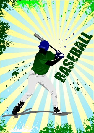 Baseball player poster.  Stock Vector - 8480945