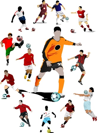 Soccer players.  Stock Vector - 8486943
