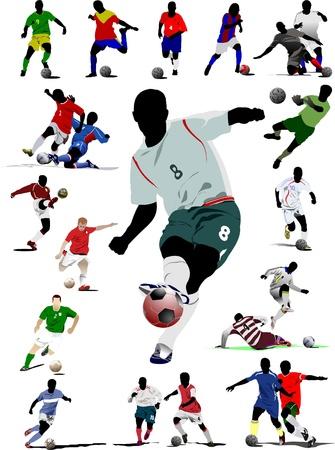 portero futbol: Jugador de f�tbol. Vectores