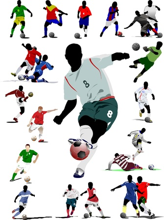 Soccer player. Vector