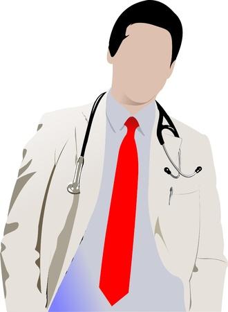 stagiaire: Docteur en m�decine avec st�thoscope.