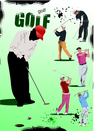 course of action: Poster with Golf players.