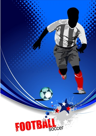 Poster Soccer football player.  Vector