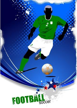 Poster Soccer football player. C Vector