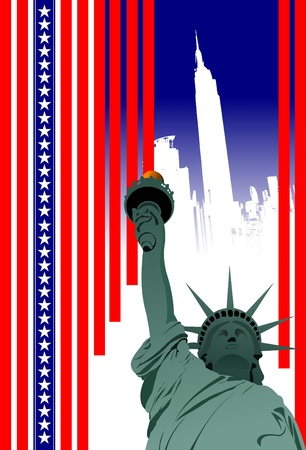 Stylized American flag.  4th July � Independence day of United States of America. Poster for  graphic designers Vector