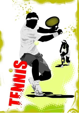 lawn tennis: Tennis player poster.
