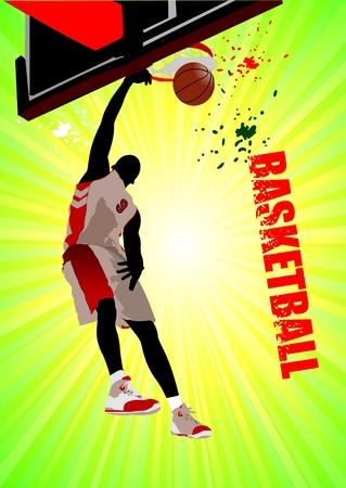 Basketball poster. Vector