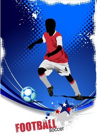 Poster Soccer football player Vector