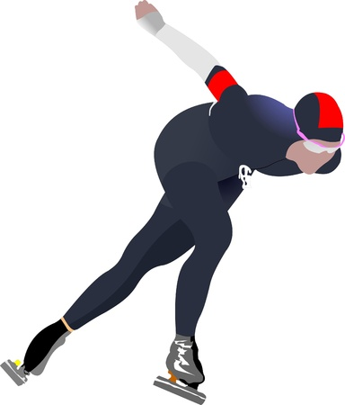 Speed skating Stock Vector - 8749403