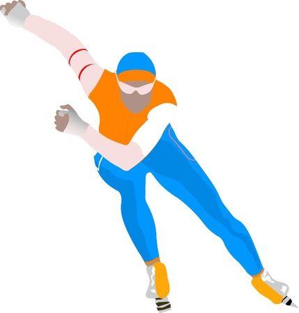 Speed skating Stock Vector - 8749428