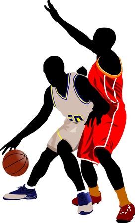 sports league: Basketball players