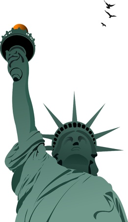 statue of liberty: Statue of Liberty in New York Illustration