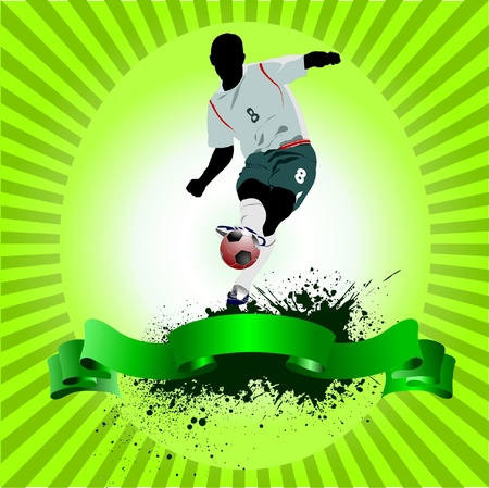 Poster Soccer football player Vector