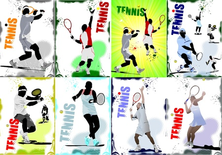 Tennis player poster Stock Vector - 8749671