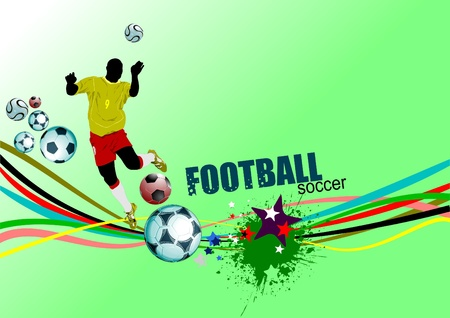 Poster Soccer football player