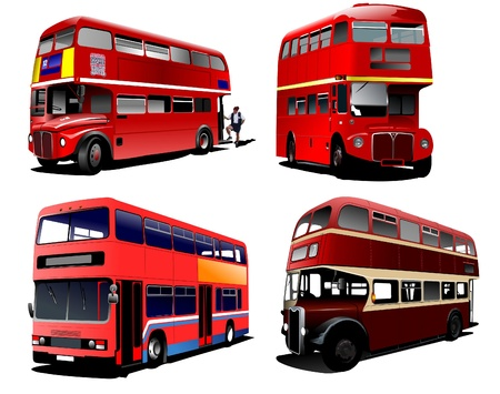 London double Decker  red bus Stock Vector - 8749598