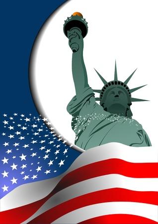 アメリカ合衆国の独立記念日。グラフィック デザイナーのためのポスター  イラスト・ベクター素材