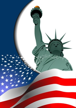 circa: Independence day of United States of America. Poster for  graphic designers