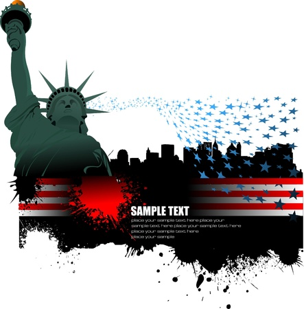 Independence day of United States of America. Poster for  graphic designers Vector