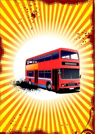 decker: Double Decker red bus