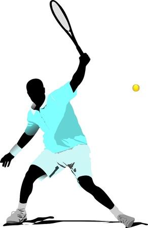 racket: Tennis player Illustration
