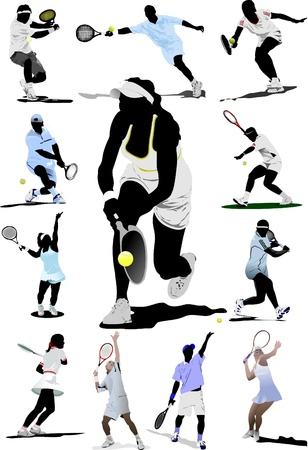 racquet: Tennis player Illustration