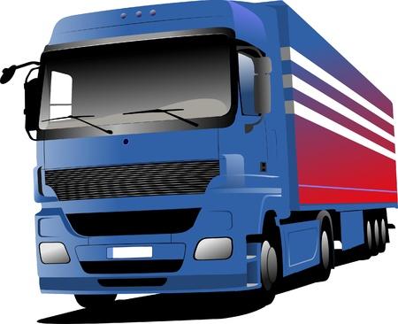 blue  truck Stock Vector - 8749480