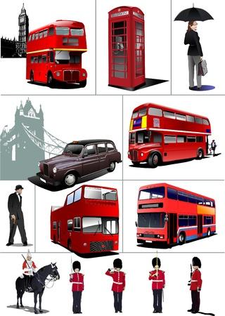 london: Sommige beelden van Londen Stock Illustratie