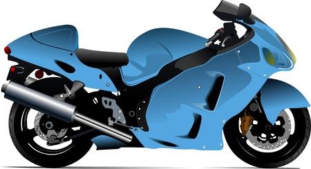 Sketch of modern motorcycle Vector