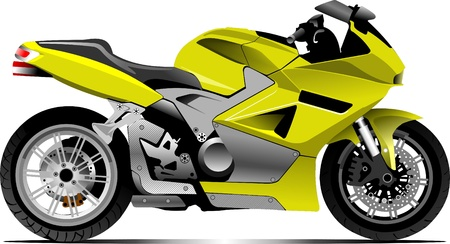 cycle ride: Sketch of modern motorcycle
