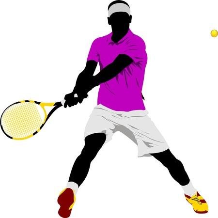 Joueur de tennis. Banque d'images - 8749425