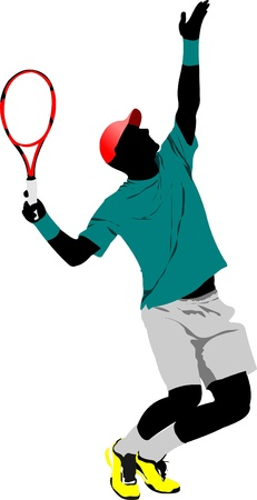 tennis serve: Tennis player Illustration