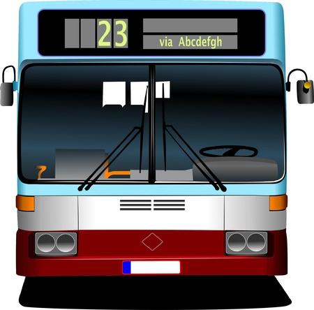 viaje de negocios: Autob�s de la ciudad de azul. Entrenador