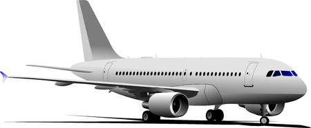 commercial painting: Passenger Airplane