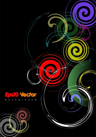 black background Stock Vector - 8749640