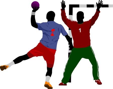 goalie: Handball players