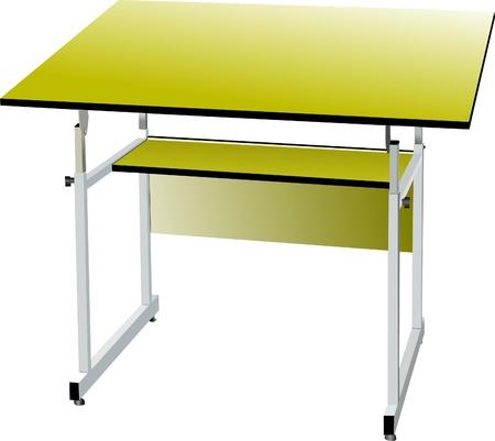 pedagogy: School desk Illustration