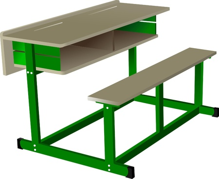 thinking student: School desk