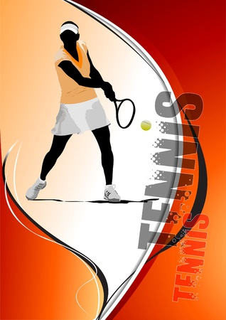 Tennis player poster Vector