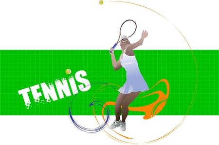 Tennis player poster Stock Vector - 8749314