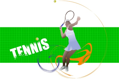 tennis serve: Tennis player poster