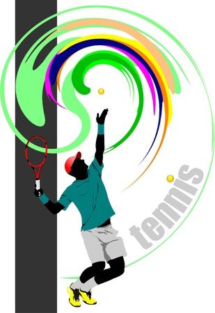 lawn tennis: Tennis player poster