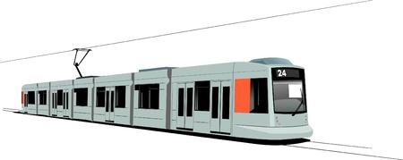 tramway: Trasporti urbani. Tram Vettoriali