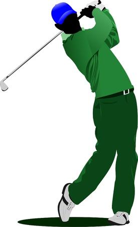 Golfer. Vector illustration Vector
