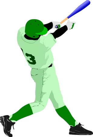 Baseball player. Vector illustration Stock Vector - 9551605