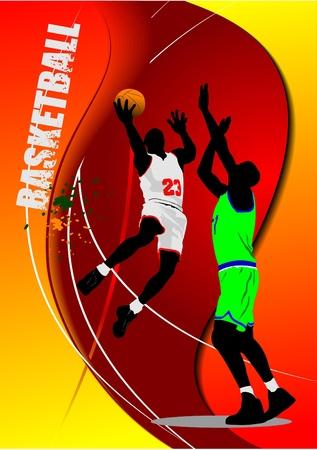 Basketball poster. Vector illustration Vector