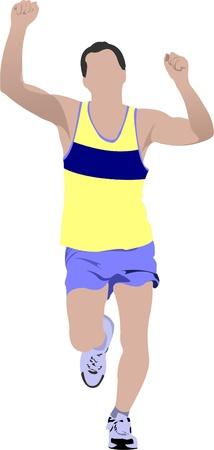 The running man. Vector illustration Stock Vector - 9551558